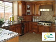 Gourmet kitchen in Gerald in Encino by California Home Builders