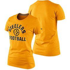 Get this Pittsburgh Steelers Ladies Distressed Logo Tri-Blend Long ...