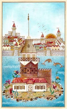 Turkish Design, Turkish Art, Tower Models, Napkin Decoupage, Georges Braque, Islamic Calligraphy, Painting Patterns, Pencil Art, Embroidery Patterns
