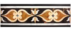 Marble water jet borders. www.atmarbledesign.com Border Pattern, Border Design, Marble Floor, Black Marble, Tile Design, Home Projects, Natural Stones, Michael Angelo, Art Deco