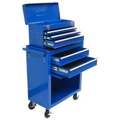 Excel Metal Rolling Cabinet Tool Chest Combo with 5 Drawers