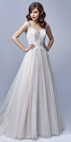 A-line Wedding Dresses : Beautiful by Enzoani 2017 full-length A-line gown