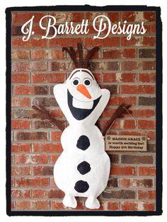 Burlap Olaf Door Hanger by JBarrettDesigns on Etsy