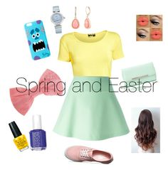 """Spring and Easter"" by hopemnixon on Polyvore featuring Pilot, RED Valentino, Vans, Charlotte Russe, Missoni, Essie, OPI, OMEGA and Vintage America"