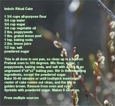 Imbolc tradition cake..