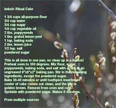 Imbolc tradition cake..