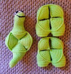 Crochet Dinosaur Amish Puzzle Ball (7)