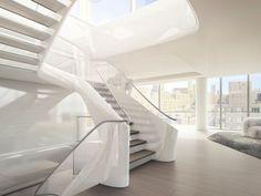 ⇢ Iconos del #diseño | Zaha Hadid. Así es Penthouse 37, el único proyecto residencial salido de la varita mágica de la arquitecta #FridayFinds #arquitectura