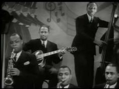 Something about the way Cab just...SANG in fun and with spunk and with all ...just..inspires me!    Cab Calloway's Jitterbug Party (1935)