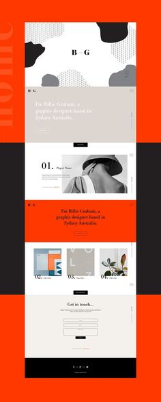 is part of an Adobe Muse Template series based on creative& portfolios Pop Design, Design Web, Simple Web Design, Website Design Layout, Web Layout, Layout Design, Website Design Minimalist, Design Ideas, Website Designs