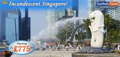Enjoy a tryst with Singapore, a city state of extraordinary finesse and beauty, for a price of £775 only!  More Details here http://www.southalltravel.co.uk/holidays/far-east/singapore/