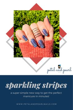 Nail Polish Stickers, Glitter Nail Polish, Nail Polish Strips, Nail Polish Colors, Manicure At Home, Diy Manicure, Sparkly Background, Blue Blaze, Fall Nail Trends