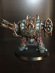 Thousand Sons Helbrute. Warhammer 40k Figures, Warhammer Models, Warhammer 40k Miniatures, Warhammer Fantasy, Warhammer 40000, Thousand Sons, Fantasy Battle, Love Painting, Figs