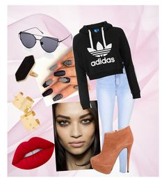 """Untitled #15"" by xcastielx on Polyvore featuring Glamorous, Topshop, Giuseppe Zanotti, Lime Crime and Jaeger"