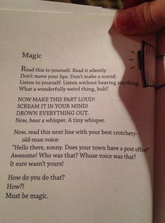 From Bo Burnham's Egghead, This Is Magic // funny pictures - funny photos - funny images - funny pics - funny quotes - The Words, E Cosmetics, Random Stuff, Cool Stuff, Love Book, Writing Prompts, Book Quotes, Book Memes, Book Lovers