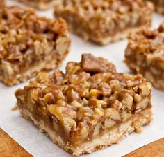 cuadrados de nueces y miel