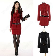 Discount China china wholesale Korean OL Graceful Temperament Slim Belted Button Up Long Sleeve Knitted Dress [31477] - US$15.99 : Bluelans