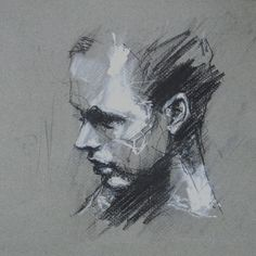 Portrait Sketches, Portrait Art, Charcoal Art, Charcoal Drawing, Black Paper Drawing, Grey Art, A Level Art, Cool Paintings, Figure Drawing