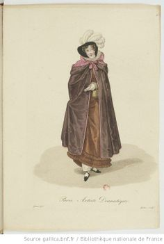 Artiste Dramatique from Georges-Jacques Gatine, Costumes d'ouvrières parisiennes, 1824, BNF Paris