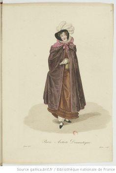 Artiste Dramatique from Georges-Jacques Gatine, Costumes d'ouvrières parisiennes, 1824, BNF Paris