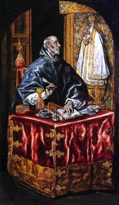 Saint Ildefonso by  El Greco ~ 1603  National Gallery of Art (USA)