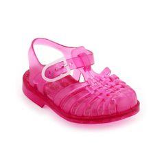 Archimede fuchsia jelly sandals