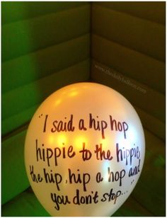 throwback thursday  Rapper's Delight #HipHop #TDB #Balloons