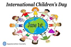 International Children's Day, Holiday Pictures, Child Day, Appreciation, Comics, June, Art, Art Background, Vacation Pictures