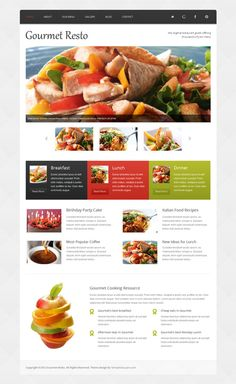 Restaurant Website Template - decent look and feel, not enough content up top Restaurant Website Templates, Web Design, Breakfast Lunch Dinner, Website Design Inspiration, Website Ideas, Party Cakes, Italian Recipes, Menu, Content