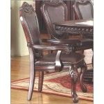 $460.00  McFerran Home Furnishings - Traditional Leather Arm Chair in Dark Cherry (Set of 2) - MCFD9500-A