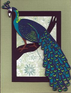 Peacock Border by EmergingIdeas on Etsy