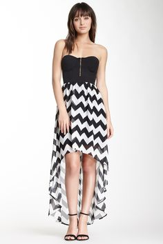 Spring Into Dresses BLVD Strapless Hi-Lo Dress $35.00