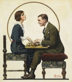 Norman Rockwell - The Ouija Board Cover artwork for The Saturday Evening Post, 1 May 1920