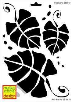 Schablone A4- Art.Nr.1116 - Tropische Blätter - Heike Schäfer
