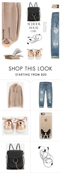 """school house chic"" by meyli-meyli ❤ liked on Polyvore featuring Hollister Co., Casetify, WithChic and finals"