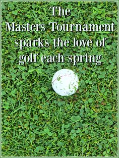 The Masters Tournament sparks the love of golf each spring for my kids. They love the sport, all thanks to Mr. Sunflower. Thankfully they're not lefties, like he is. It would cost more for equipment. Yikes.