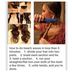 beach waves hair, how to do beach waves