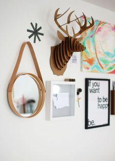 DIY hanging mirror | sugarandcloth.com
