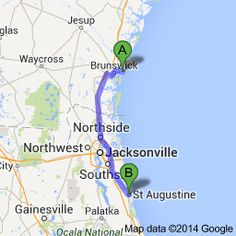 From: St Simons Island, GA To: St Augustine, FL