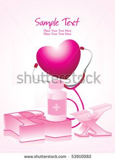 stock vector : vector illustration of pink medical background