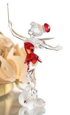 Swarovski Crystal Disney Christmas Tinkerbell Limited Edition BNIB 2012