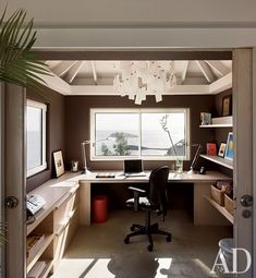 nice small home office practical setup kind of how my office is set up just not as organized arquitectura casas pinterest office workspace - Office Design Ideas For Small Office