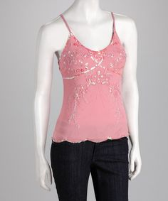 Take a look at this Pink Beaded Tank by Tokyo Collection on #zulily today!