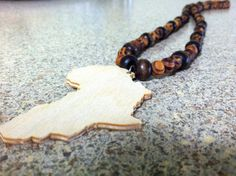 African Wooden Bead Necklace. $25.00, via Etsy.