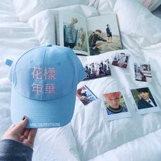 Hua Yang Nian Hua BTS Baseball Cap ($22) ❤ liked on Polyvore featuring accessories, hats, embroidered ball caps, baseball caps hats, flower baseball cap, baseball caps and logo baseball caps