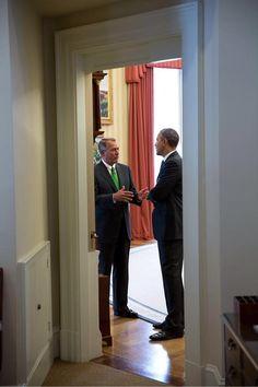 Twitter / petesouza: President Obama & Speaker ...