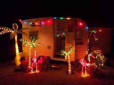 Vintage Trailer Camper Christmas Xmas decor decorations