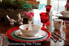 Lenox Chirp table settings- by Designs by Gollum. See the blog post for more!