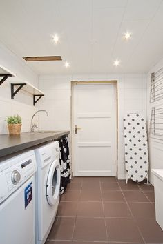 Tvättstuga Laundry Area, Laundry Room Design, Laundry Rooms, My Beautiful Laundrette, Laundry Room Inspiration, Laundry Room Organization, Hobby Room, Building A House, Home Appliances