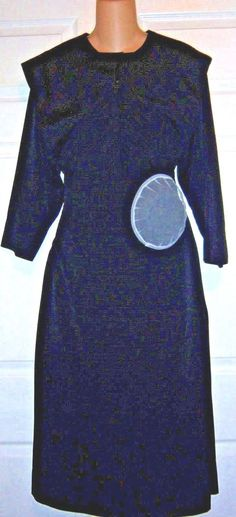 "Amish Dress Matching Cape & Apron Net Kapp Amish Handmade 38"" Bust / 34""…"